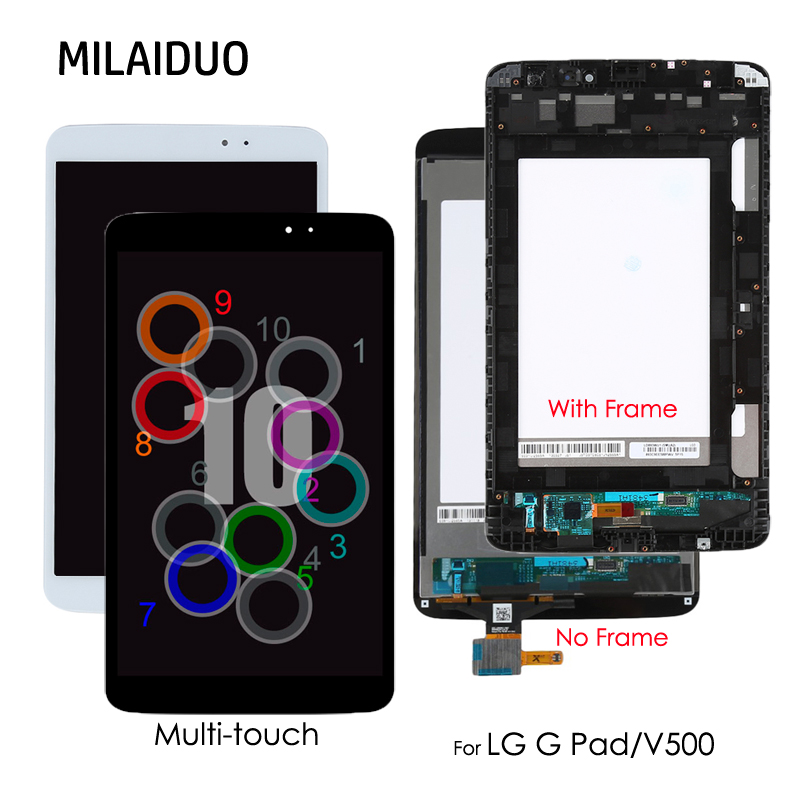 8.3'' LCD For LG G Pad V500 Wifi / 3G Version Multi-touch LCD Display Touch Screen Digitizer Glass Assembly with /No Frame цены