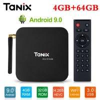 Tanix TX6 Android 9.0 TV BOX Allwinner H6 Quad core 4G 32G/64G 2.4G+5G Wifi Set Top Box 4K HD BT 4.1 Google Smart Media Player