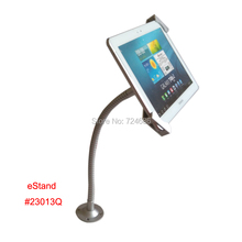 universal 7-10.1 inch tablet table security mount lock holder kiosk POS with flexible gooseneck arm display on shop or retail
