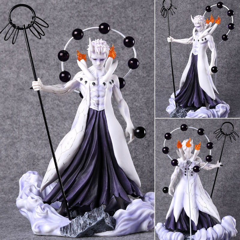 Free Shipping 10 Naruto Shippuden Anime Uchiha Obito Ootutuki Ver. Boxed 24cm PVC Action Figure Collection Model Doll Toy Gift free shipping 6 comics dc superhero shfiguarts batman injustice ver boxed 16cm pvc action figure collection model doll toy