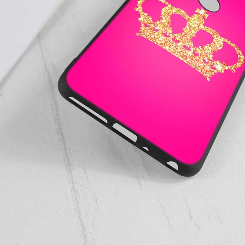 For Huawei Honor Mate 7C 7A 8 8X 9 9N 10 20 Nova 3 3e 3i Pro Lite Black Silicon Phone Case King Queen Couple crown Style in Fitted Cases from Cellphones Telecommunications