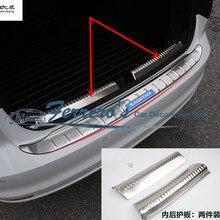 2 шт./лот для 2012- Volkswagen VW JETTA 6 MK6 из нержавеющей стали задняя Задняя Крышка багажника внутри Защитная декоративная крышка с блестками