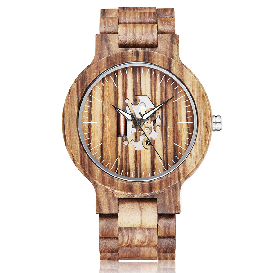 Creative Wooden Watch Men Women Couple Watches Wooden Band Wristwatch NATURAL Walnut-wood Male Female Wrist Watch Lover Clock(China)