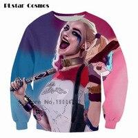 Anime Harley Quinn Sweatshirt Fashion Men Women Long Sleeve Outerwear Streetwear DC Comics 3d Print O