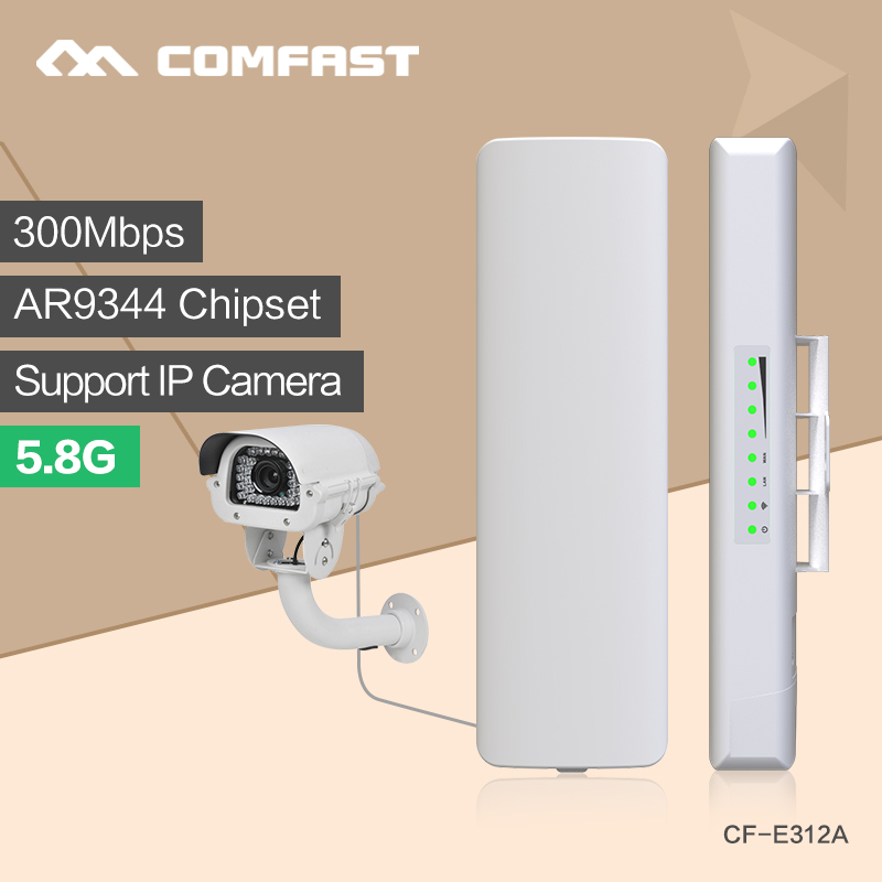 2PCS comfast 300M 5.8G WIFI Access Point wifi transmitter with 2*14dBi WI-FI Antenna high power wireless bridge &CPE Nanostation 2 4g 3dbi wi fi antenna black