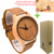 Caso De Madera Del Reloj Para Los Hombres Y de Las Mujeres de Bambú de bambú de Alta calidad Japonesa miytor 2035 Reloj Análogo de Cuarzo Ocasional Con El Regalo reloj