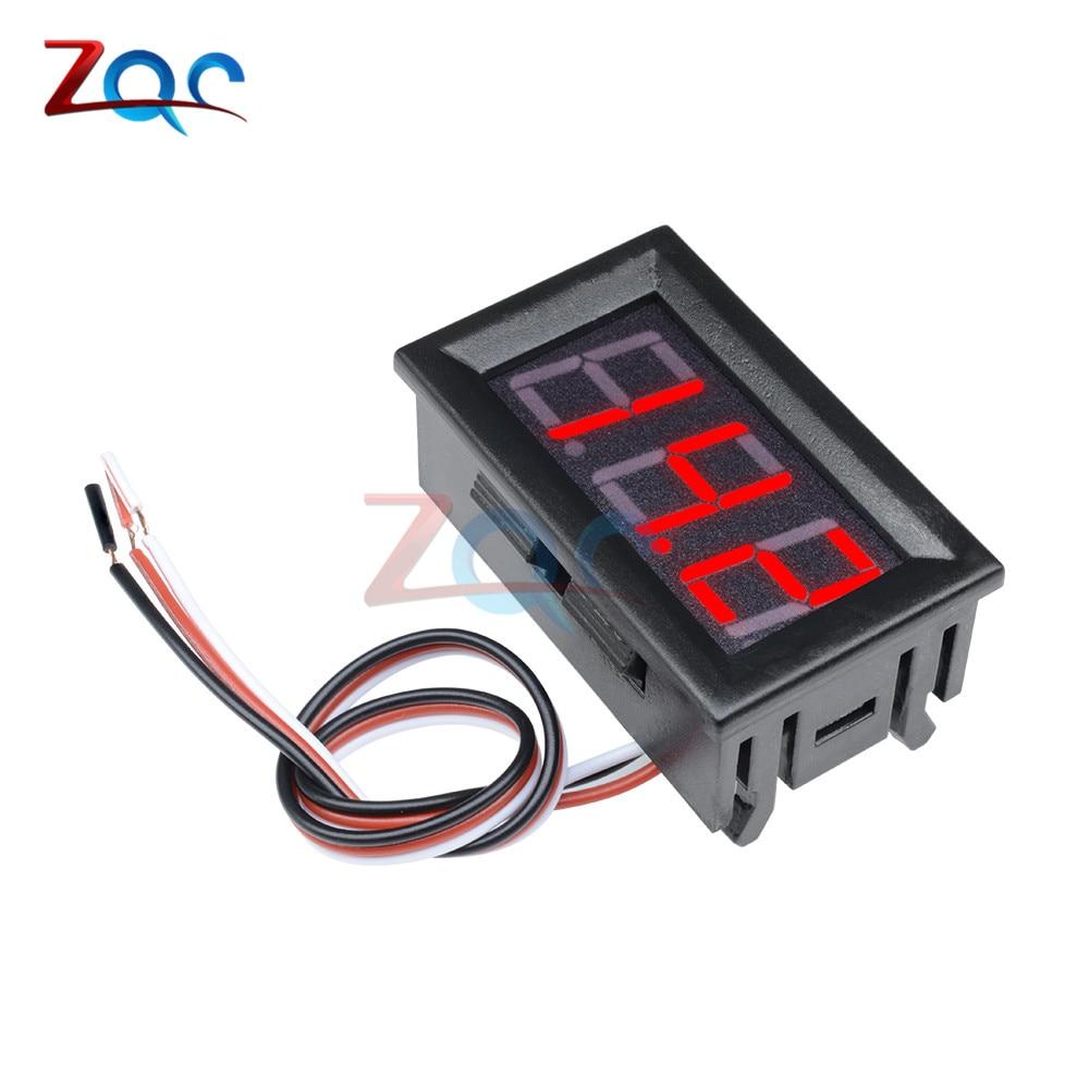 "HTB1IKleXlKw3KVjSZFOq6yrDVXan Mini Digital Voltmeter Ammeter DC 100V 10A Panel Amp Volt Voltage Current Meter Tester Detector 0.56"" Dual LED Display Auto Car"