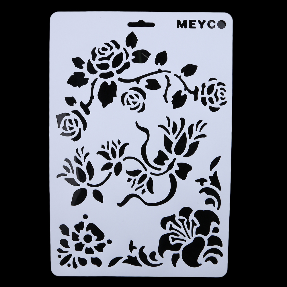 Online buy wholesale diy stencils for wall from china diy stencils 6pcs layering stencils for walls painting scrapbooking photo album decorative embossing diy paper card craft amipublicfo Images