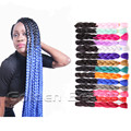 2T Ombre Color High Temperature Fiber Xpression Jumbo Braid Crochet Long Synthetic Hair For Box Braid And Senegalese Twist Hair