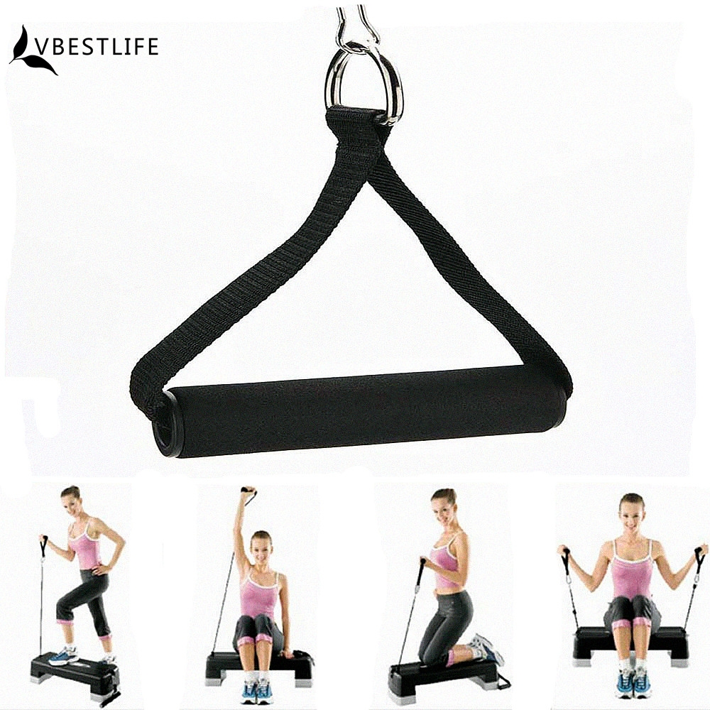 Exercise Bands Bar: Hot Sale 1 Piece Resistance Band Handle Rope Bar