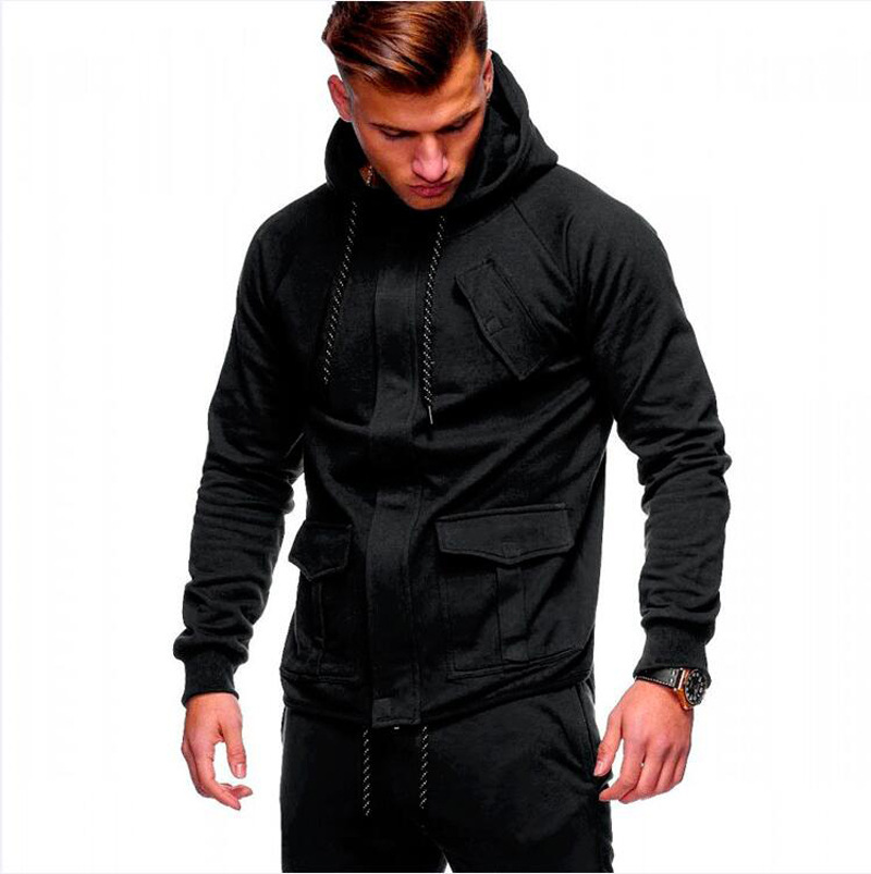 ZOGAA Men Two Pieces Set Fashion Hooded Sweatshirts Sportswear Men Tracksuit Hoodie Autumn Men Brand Clothes Hoodies+Pants Sets