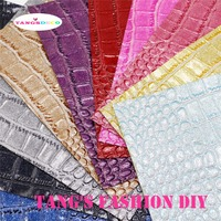 10PCS High Quality DIY Soft PVC GLITTLE Crocodile PU Leathers Synthetic Leather DIY Fabric 20x22cm Per