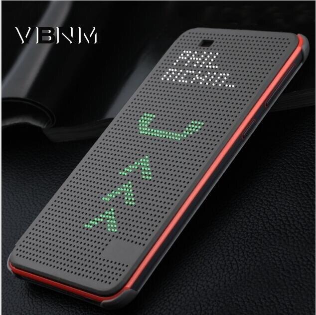Flip Couverture Pour HTC 620g Mince Dot Pointillé Sac Smart Auto sommeil Wake Voir Silicone Téléphone Cas D'origine Pour HTC Desire 620G 620G