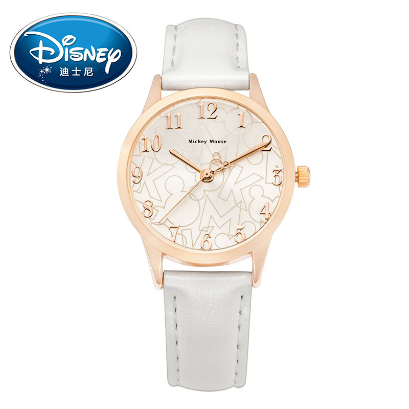 Disney Kids Watch Women Watch Fashion Cute Wristwatches Girls Boys Mickey Mouse Gift Leather clock disney kids watch children watch rhinestone fashion minnie leather strap cute quartz wristwatches girls waterproof clock