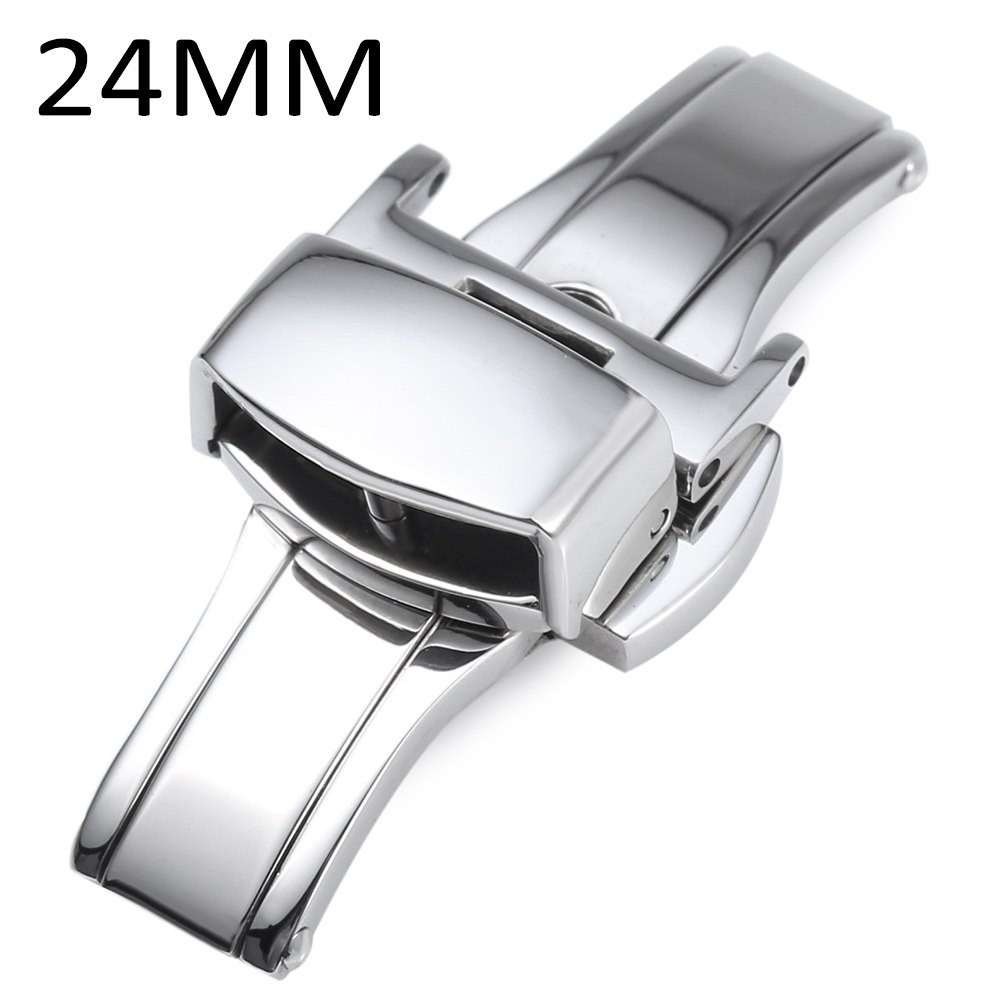 Stainless Steel Watch Buckle Deployment Butterfly Clasp 12MM 14MM 16MM 18MM 20MM 22MM 24MM stainless steel watch buckle 16mm 18mm 20mm for blue balloon pasha watchband polished finish butterfly deployment clasp silver