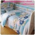 Продвижение! 6 шт. медведь детские кроватки постельных принадлежностей, Детская кроватка бампер детские для детей постельного белья ( бамперы + лист + )