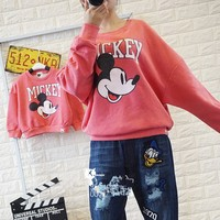 New Winter Cartoon Family Look Matching Mother Daughter Girl Clothes Outfits Mom And Daughter Sweatshirt Skirt
