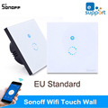 Sonoff EU Standard Wireless Remote Control Light Switches,Glass Panel Smart Touch Switch,Wall Light Remote Switch For Smart Home