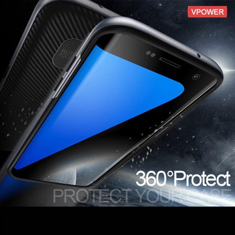 För Samsung Galaxy S8 / S8 Plus / S7 Edge Case Vpower Luxury Hybrid - Reservdelar och tillbehör för mobiltelefoner - Foto 3
