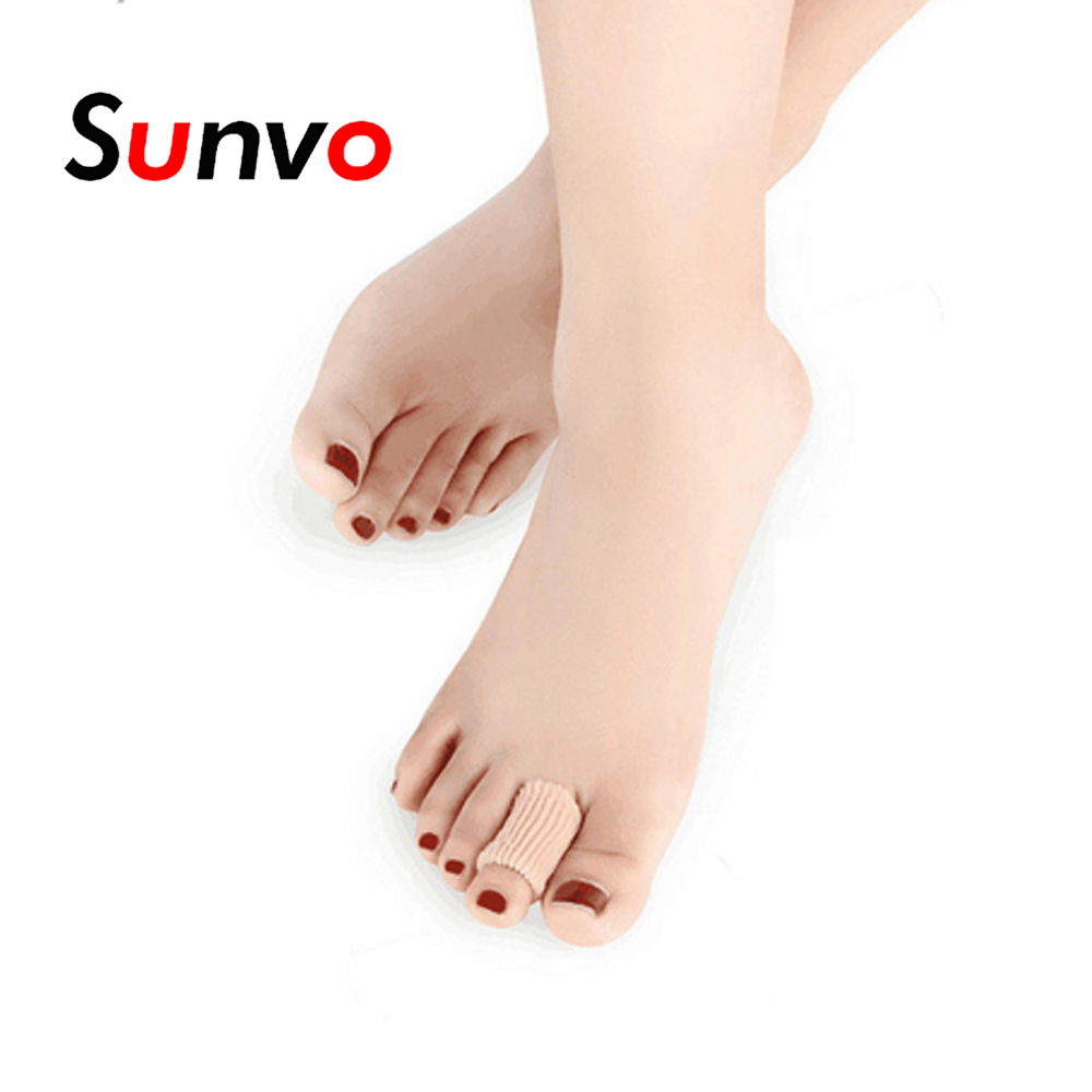 Sunvo Fabric Gel Finger Toes Protective Pad Hallux Valgus Bunion Calluses Corns Paronychia Blister Toes Care Pain Relief Inserts