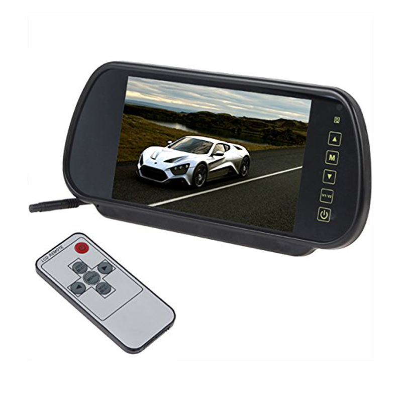 7 Inch 16:9 TFT LCD Widescreen Car Rearview Monitor Mirror with Touch Button, 480(W)x 234(H) , V1/V2 Selecting , Fast shipping цена