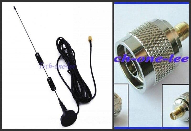 imágenes para 4G 5dbi Antena 698-960/1700-2700 Mhz LTE con base magnética 3 M Antena + N-SMA CONECTOR del adaptador N macho a hembra SMA