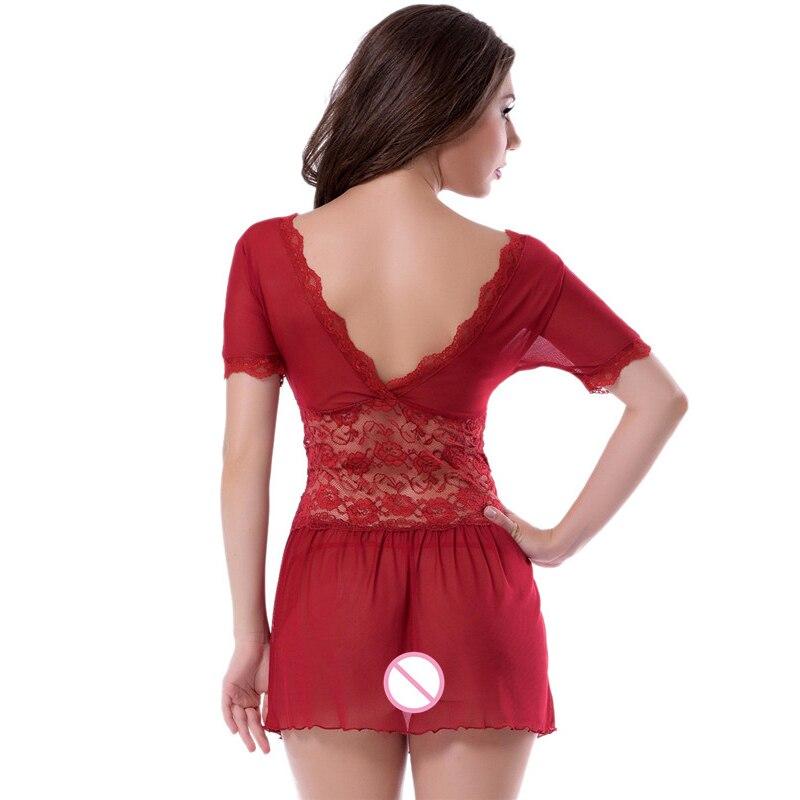 Sex Underwear Lingerie Sexy Hot Erotic Babydoll Dress Transparent Sleepwear Women Lace Babydoll Nightwear Porn Clothes