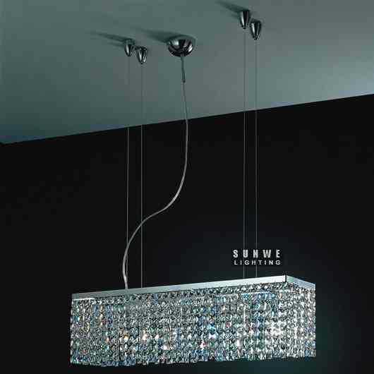 casa lampadario , moderna sala da pranzo lampadario di cristallo ...