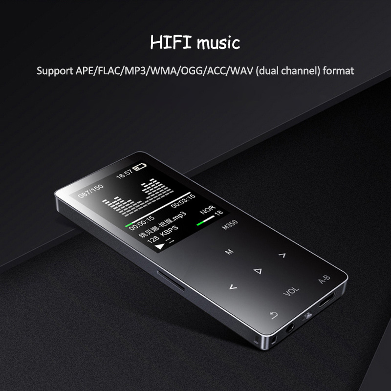 Touchscreen HIFI MP3-Player mit Kopfhörer 24 Sprachen Video - Tragbares Audio und Video