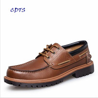 CDTS Big Size 36 47 Four Season High Quality Genuine Leather Men Hot Sales Flats Driving