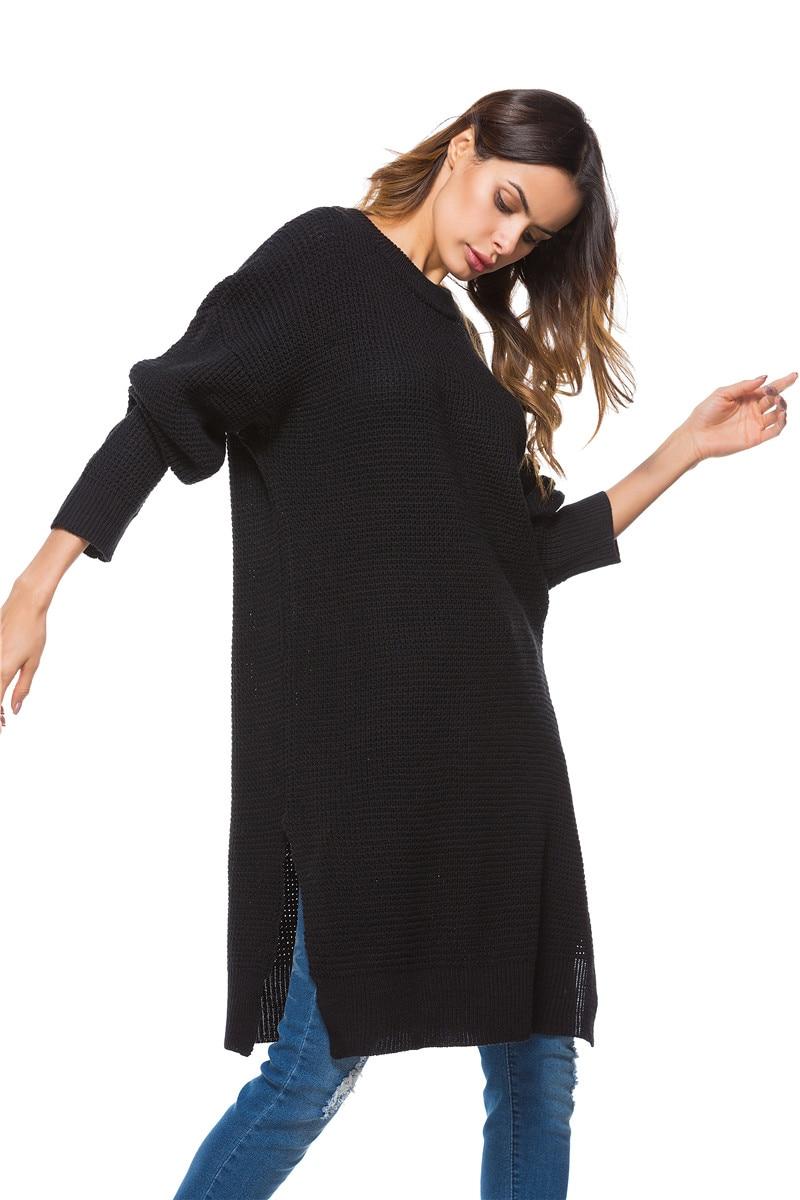 Fall Winter Vintage Mustard Side Slit Crochet Sweater Dress for Women Cute Ladies Retro Cosy Loose Split Pullover One Size 6