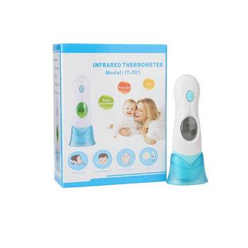 Cyfrowy termometr dla małych dzieci ekran LCD temperatura pomiaru ucha czoło termometry na podczerwień dla dzieci gorączka opieki zdrowotnej tanie i dobre opinie Vcomin ET-103S Baby Digital Thermometer blue