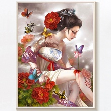 5D DIY Diamond Painting Full Square Flower Fairy Butterfly Flowers  Embroidery Cross Stitch Mosaic Home Decor