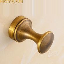 Vintage gancho latón antiguo pared ropa tela gancho de pared perchero percha de baño para Albornoz colgador de accesorios de Material de cobre de 3010