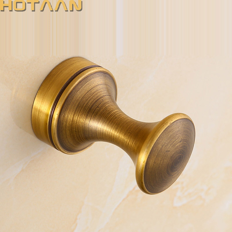 Vintage Hook Antique Brass Wall Clothes Rack Cloth Hook Wall Hook Robe Hook For Bathroom Accessory Hanger Copper Material 3010