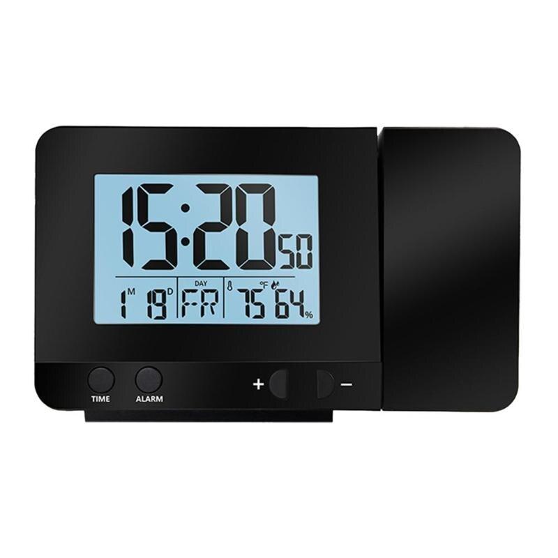 Numérique Station Météo Thermomètre Hygromètre Double Horloge D'alarme Électronique Température Hygromètre Intérieur Testeur Alarme Horloge dans Température Jauges de Maison & Jardin