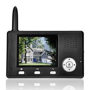 "Image 4 - Yobang 보안 freeship 2.4 ghz 3.5 ""tft 무선 비디오 도어 폰 인터폰 초인종 홈 보안 1 카메라 1 모니터 초인종"