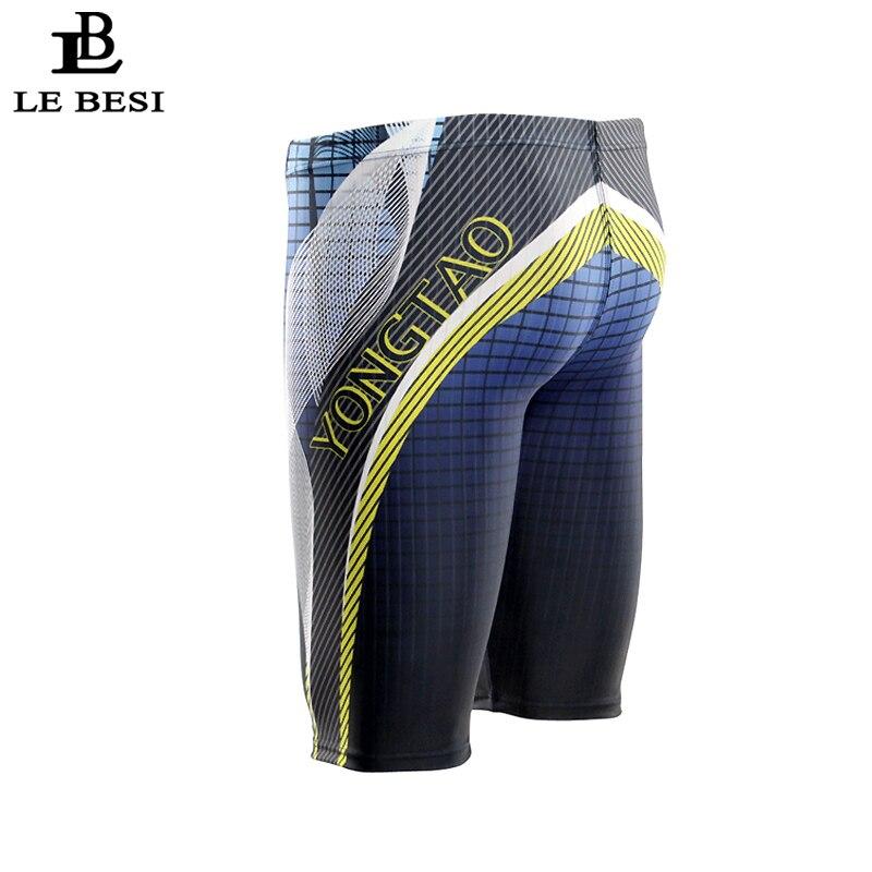 2017 LEBESI Men Swimming Trunks Fifth Pants Boxer Swimwear Men's Swimsuits Plus Size Sportswear L-3XL Print Beachwear Briefs