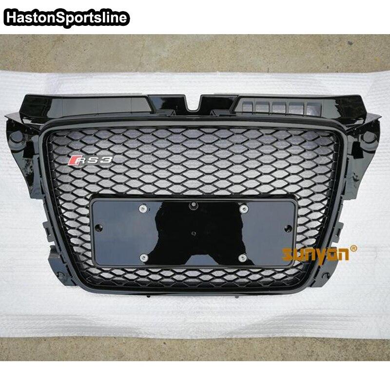 A3 RS3 Style Noir Pare-chocs Avant Grill Grille Pour Audi A3 S3 RS3 S LIGNE 2009 2010 2011 2012 (pas Logo)