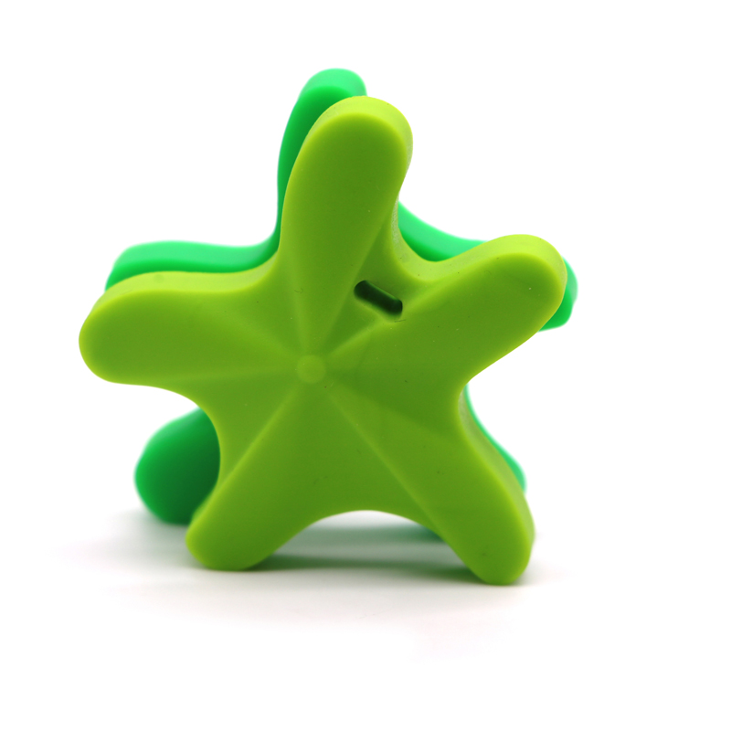 Купить с кэшбэком Safe Toys For Soothe Teething Baby BPA Free Starfish Silicone Teether DIY chew Necklace Nursing Tool Pendant 5pcs