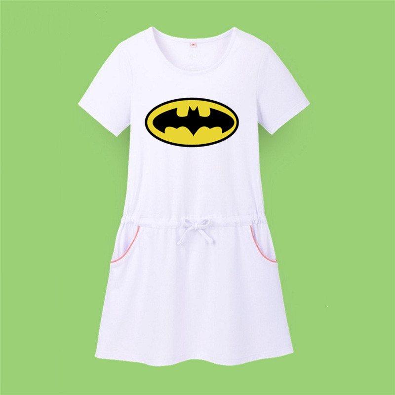 New Design Superman Batman Comic Hero Dress Batgirl T Shirt Birthday Gift For Baby Girls Cartoon Clothing In Dresses From Mother Kids On