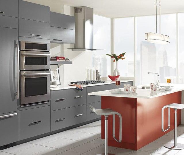Hochglanz blut rot farbe küche design K019 in Hochglanz blut rot ...