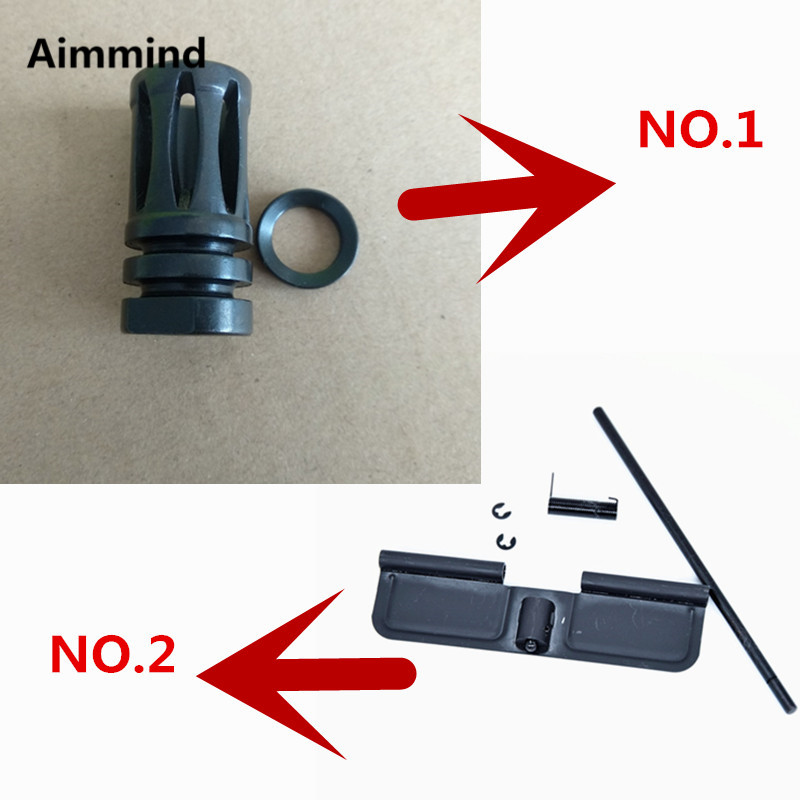 Steel ar15 Dust Cover For Airsoft <font><b>M4</b></font>/M16 <font><b>magazine</b></font> <font><b>catch</b></font> Tactical .223 Forward Assist Bolt Button and Dust Cover Assembly Set image