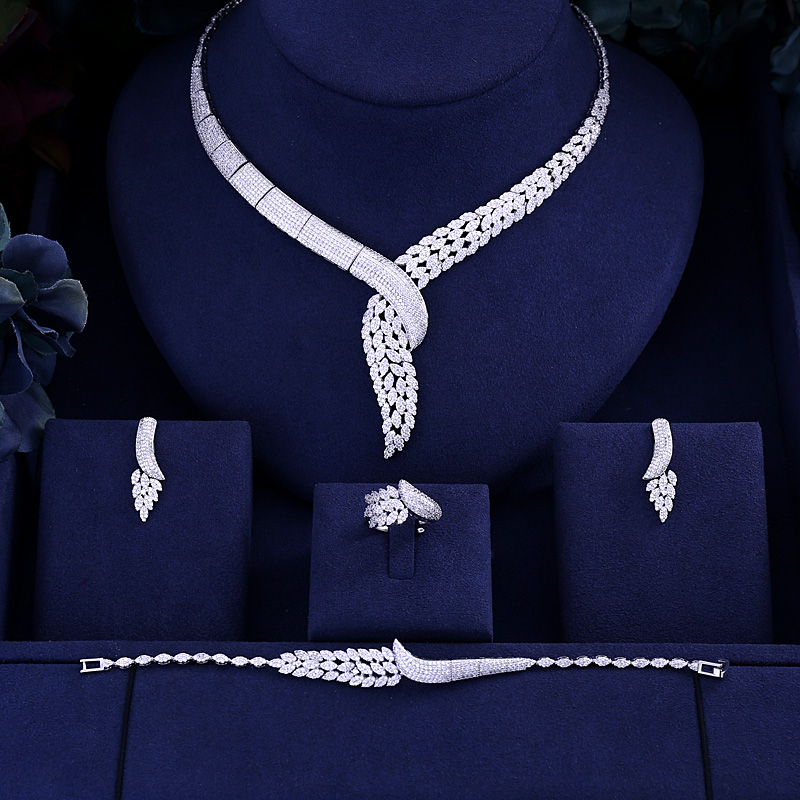Bridal-Jewelry-Sets Wedding-Party-Accessories Jankelly-Hotsale Design African Women New-Fashion