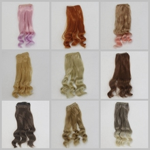 DIY Wave Wig Black Gold Blown Khaki Curly Wavy 25cm Hairpiece Per Hot Pear Hair For Dolls Accessories Christmas Toy