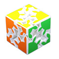 2016 Brand New 2 Layers Gear Magic Cube 6cm 3D Puzzle Cubes Educational Toy Special Toys White magico profissional Kids Gift -50