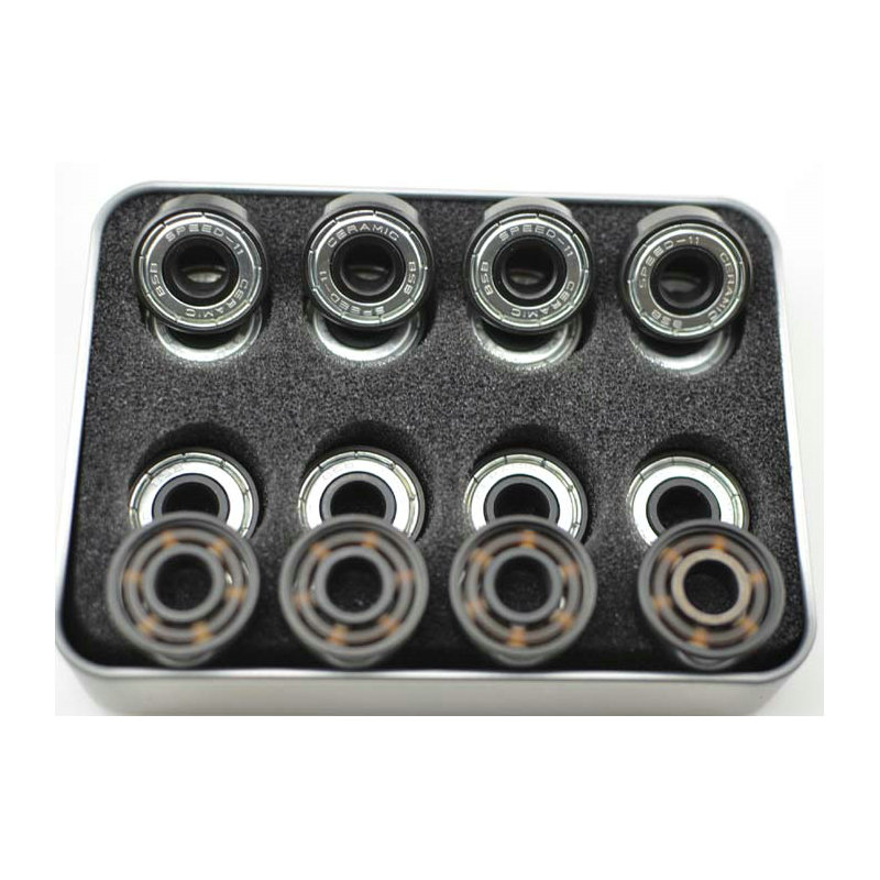 16pcs/pair BSB 608 ABEC-11 6 Bead White Ceramic Skateboard Bearings Roller Skate Bearings Ice Skate Bearings Long Board Bearings