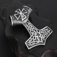 Stainless Steel Viking Thor Hammer Pendant Hole 10mm for Necklace DIY Accessories Findings Jewelry Making Men Axe Charm Supplies