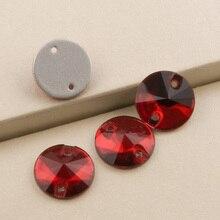 Light Siam 3200 Rivoli Crystal Beads 8 10 12 14 16 18mm Sew On Rhinestones Sewing Stones Flatback Rhinestone