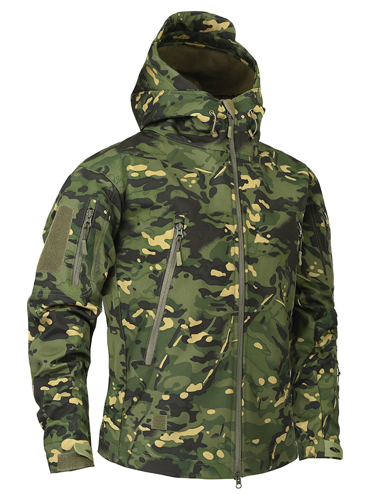 Fleece Jacket Clothing Windbreakers Multicam Mege Army Military Autumn Camouflage Men's